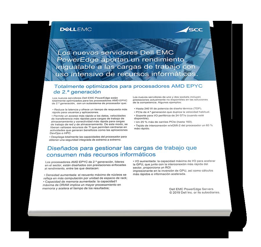 Acelere el tiempo con los nuevos servidores Dell EMC PowerEdge y AMD EPYC